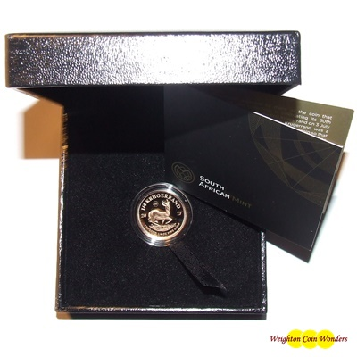 2017 Gold Proof 1/4oz KRUGERRAND - 50th Anniversary Privy